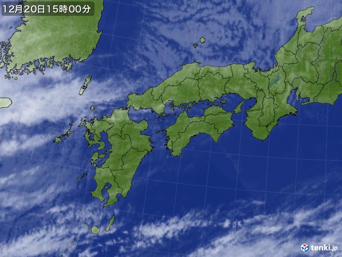 実況天気図(2019年12月20日)