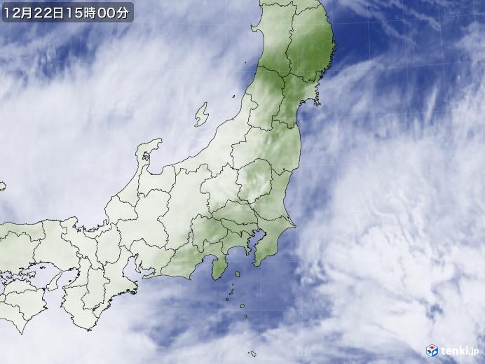 実況天気図(2019年12月22日)