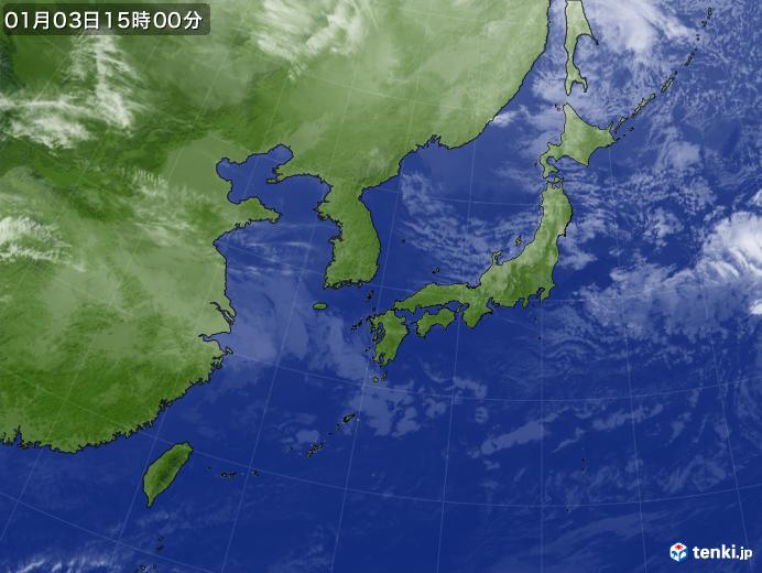 実況天気図(2020年01月03日)
