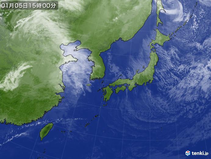 実況天気図(2020年01月05日)