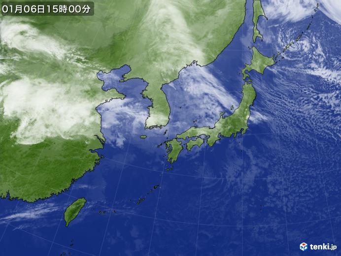 実況天気図(2020年01月06日)