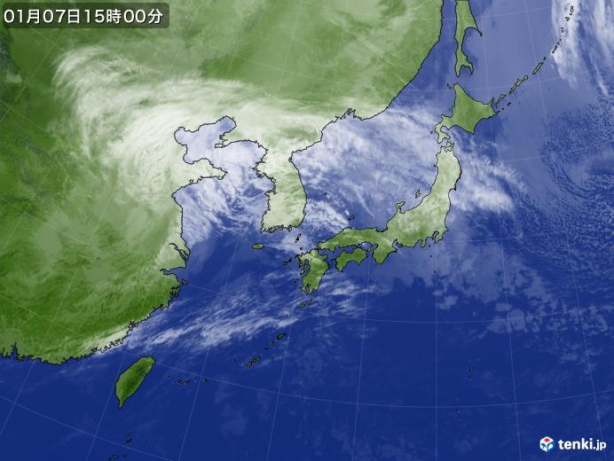 実況天気図(2020年01月07日)