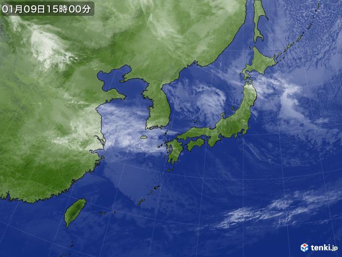 実況天気図(2020年01月09日)