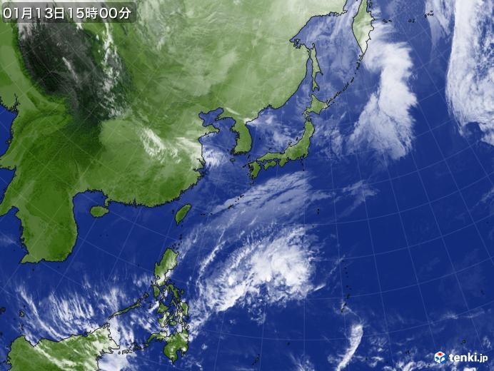 実況天気図(2020年01月13日)