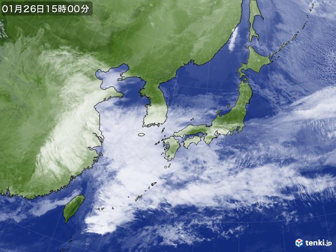 実況天気図(2020年01月26日)
