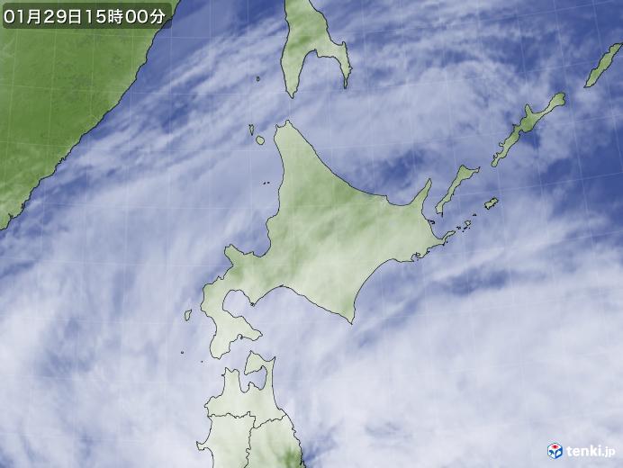 実況天気図(2020年01月29日)