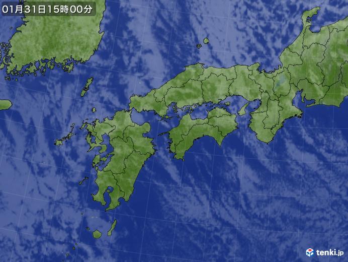 実況天気図(2020年01月31日)