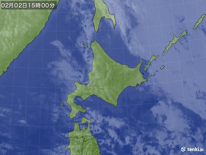 実況天気図(2020年02月02日)