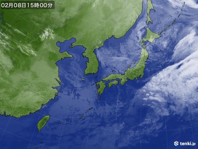 実況天気図(2020年02月08日)
