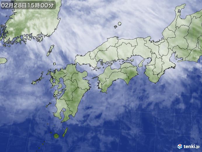 実況天気図(2020年02月28日)