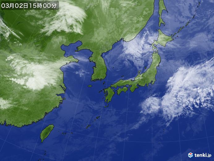 実況天気図(2020年03月02日)