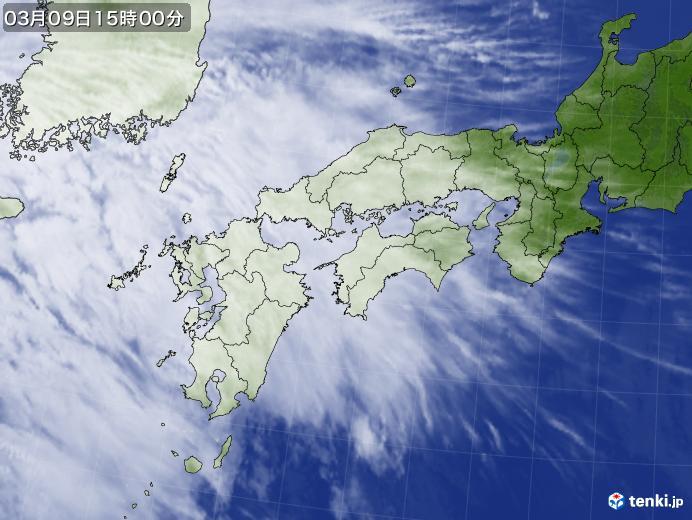 実況天気図(2020年03月09日)