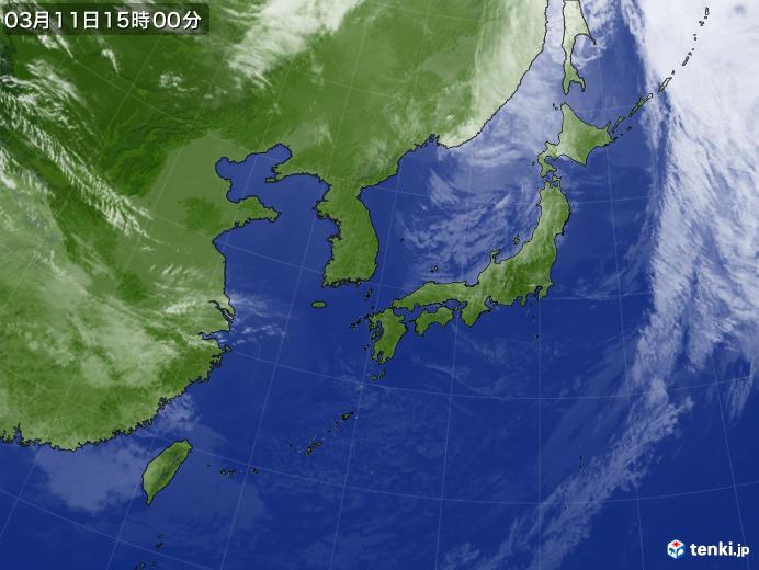 実況天気図(2020年03月11日)