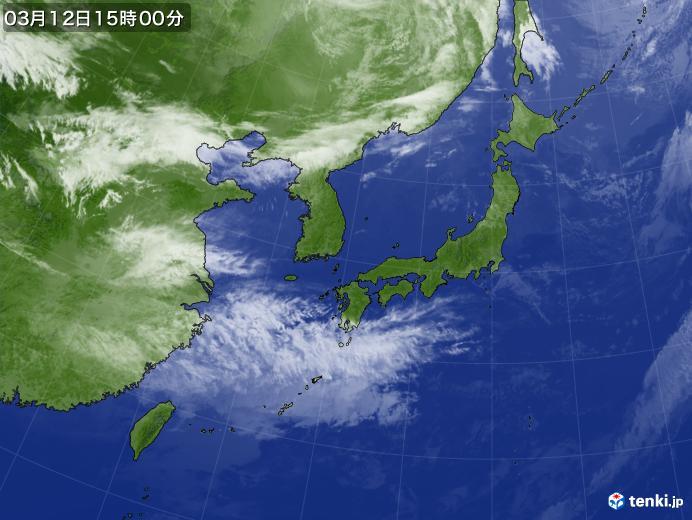 実況天気図(2020年03月12日)
