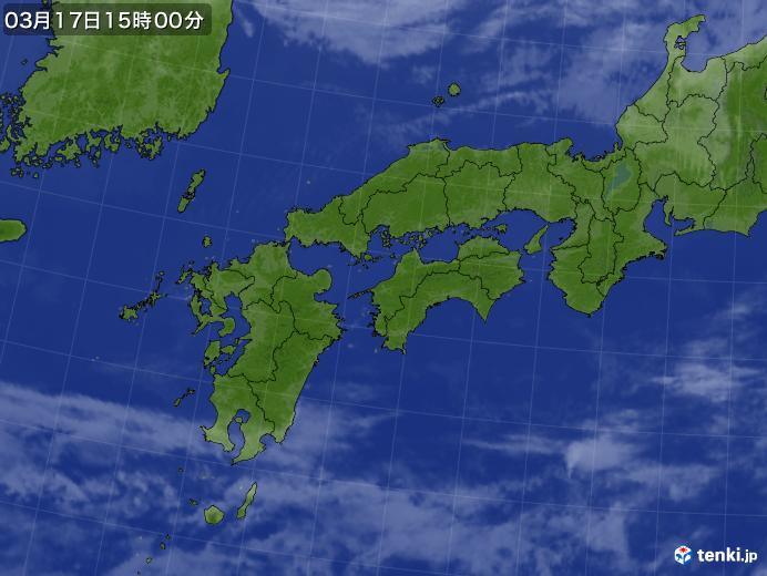 実況天気図(2020年03月17日)