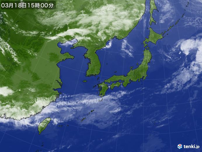 実況天気図(2020年03月18日)