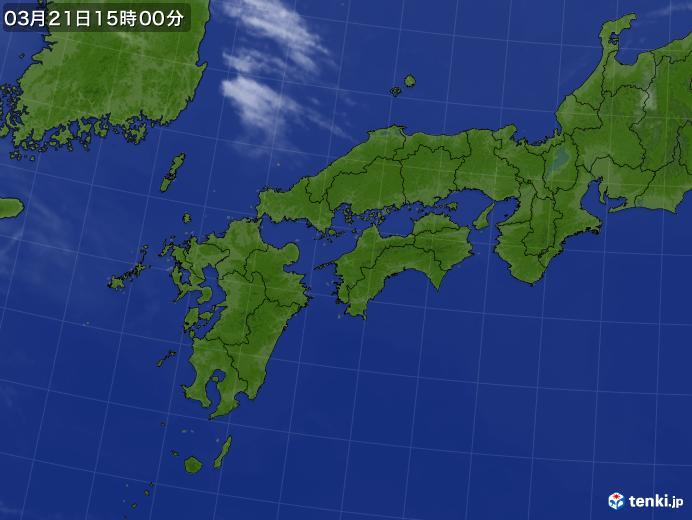 実況天気図(2020年03月21日)