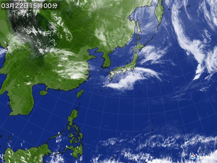 実況天気図(2020年03月22日)