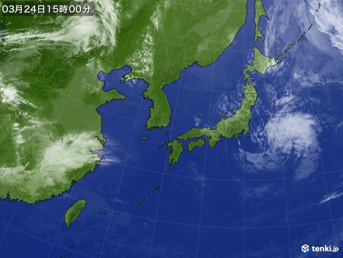 実況天気図(2020年03月24日)