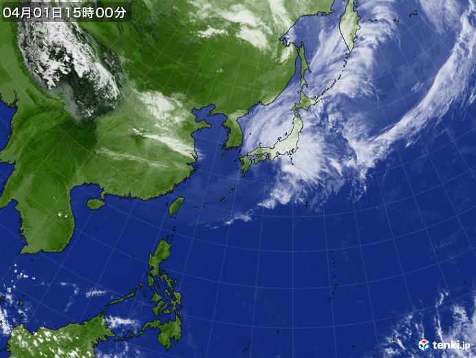 実況天気図(2020年04月01日)