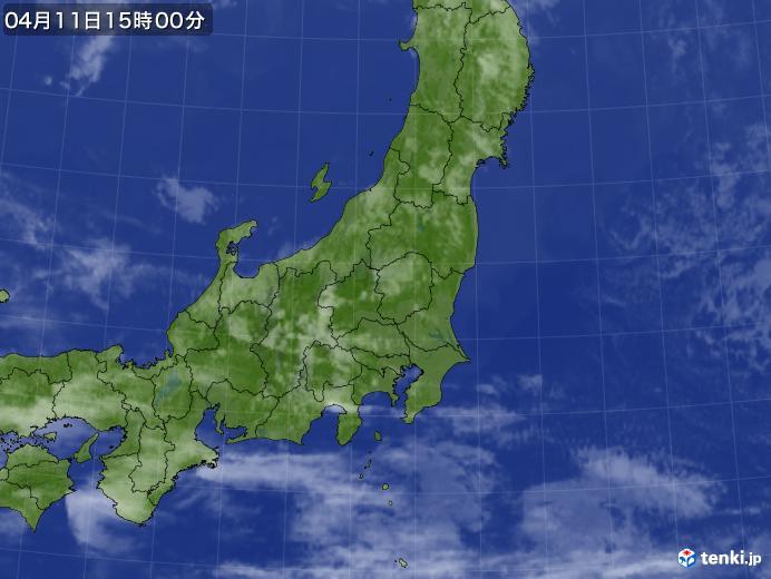 実況天気図(2020年04月11日)