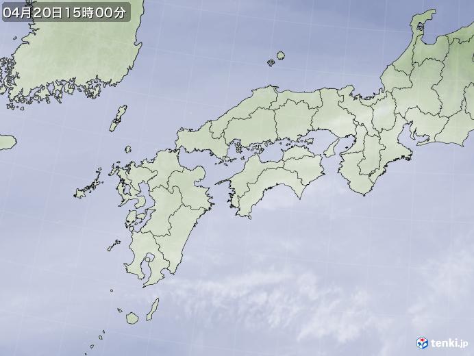 実況天気図(2020年04月20日)