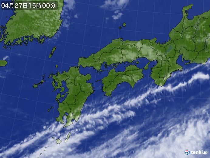 実況天気図(2020年04月27日)