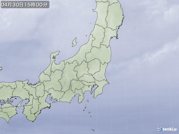 実況天気図(2020年04月30日)