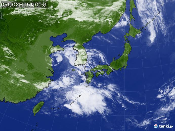 実況天気図(2020年05月02日)