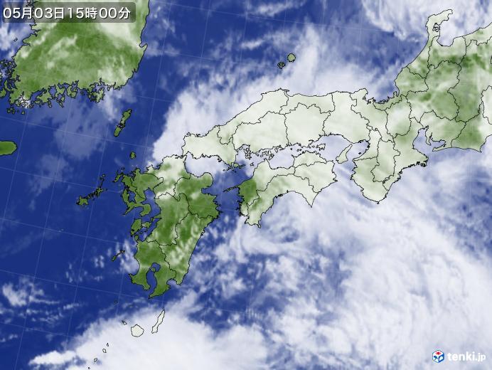 実況天気図(2020年05月03日)