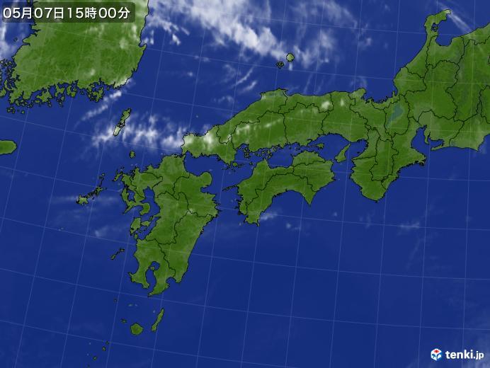 実況天気図(2020年05月07日)