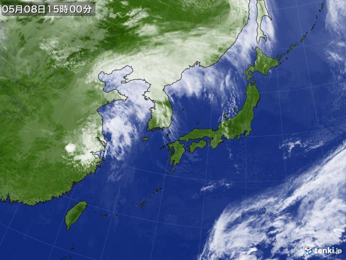 実況天気図(2020年05月08日)