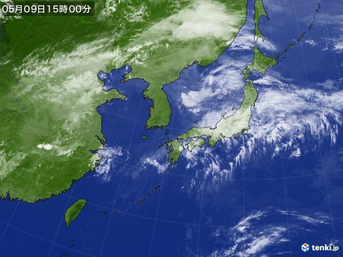 実況天気図(2020年05月09日)