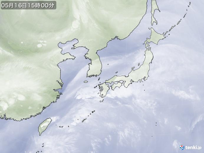 実況天気図(2020年05月16日)