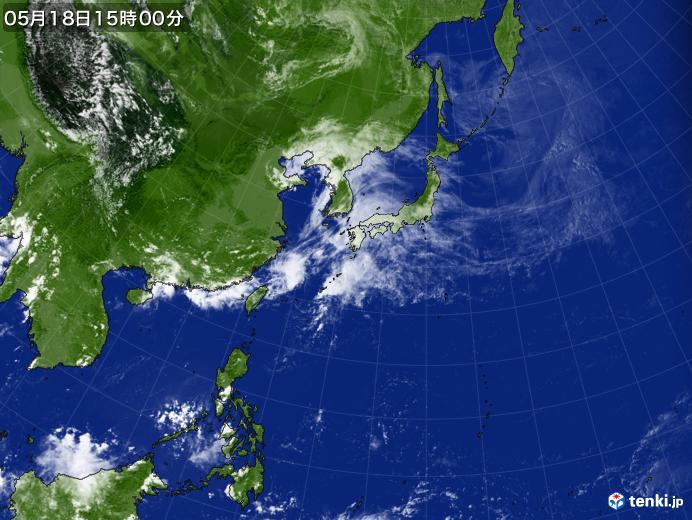 実況天気図(2020年05月18日)