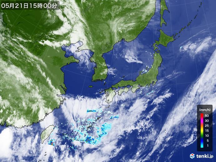 実況天気図(2020年05月21日)
