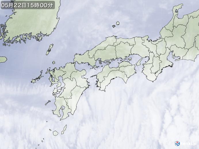 実況天気図(2020年05月22日)