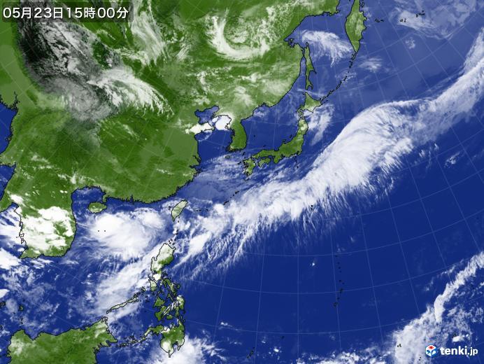 実況天気図(2020年05月23日)