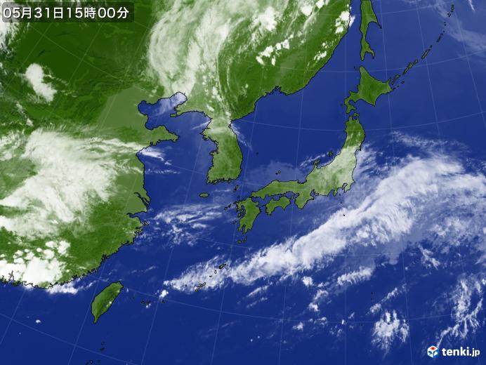 実況天気図(2020年05月31日)
