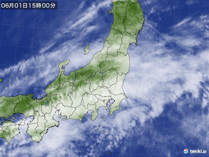 実況天気図(2020年06月01日)