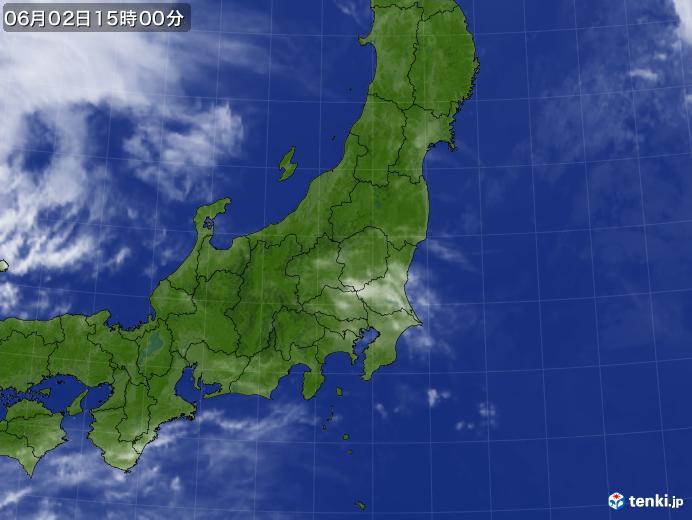 実況天気図(2020年06月02日)