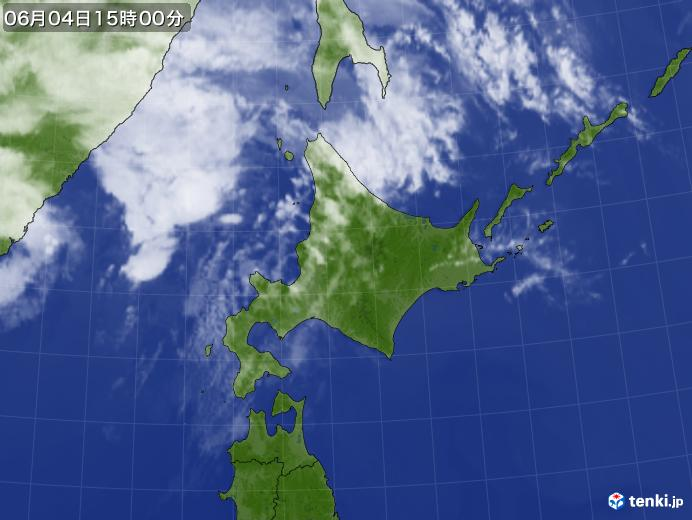 実況天気図(2020年06月04日)