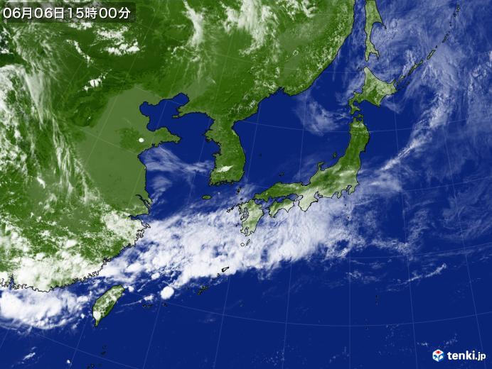 実況天気図(2020年06月06日)