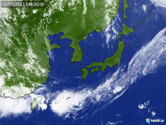 実況天気図(2020年06月07日)