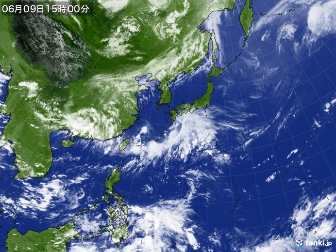 実況天気図(2020年06月09日)
