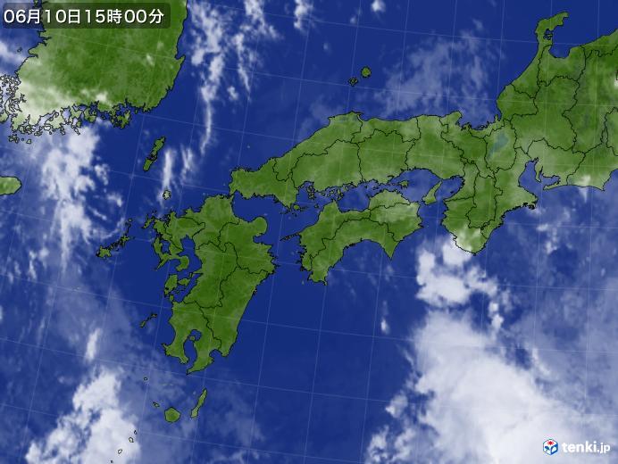実況天気図(2020年06月10日)