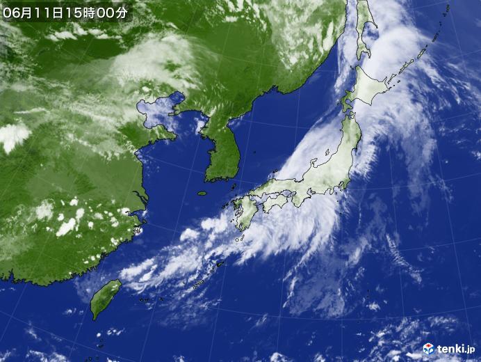 実況天気図(2020年06月11日)
