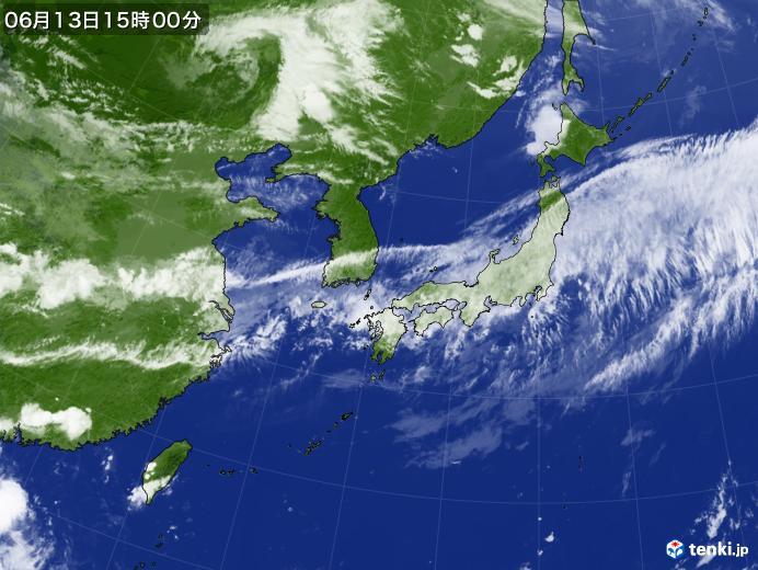 実況天気図(2020年06月13日)