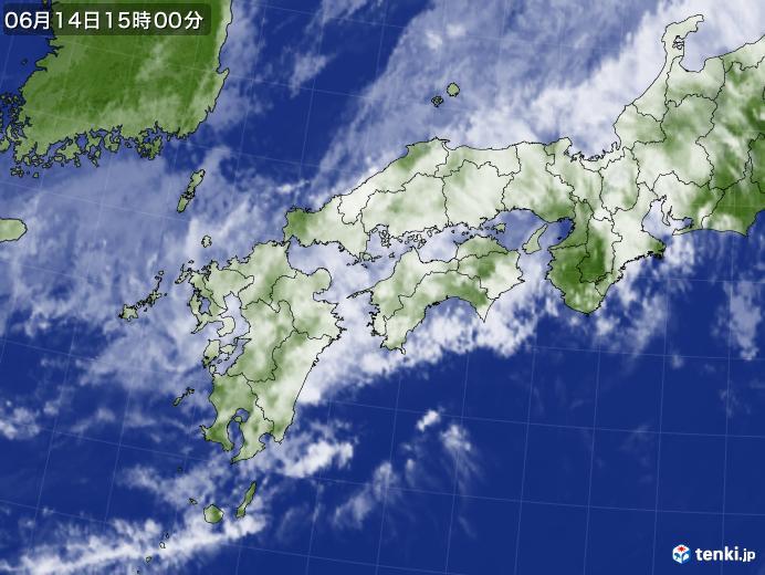 実況天気図(2020年06月14日)