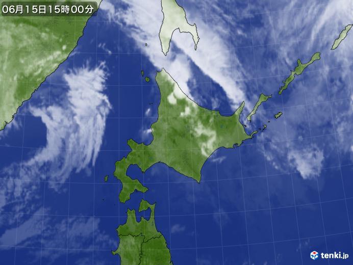 実況天気図(2020年06月15日)